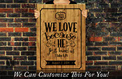 We love because He first loved us 1 John 4:19 bible verse with custom date and names wedding decor - a wall decor vinyl decal lettering 2437