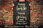 Friends of the Bride Friends of the Groom please sit together there is plenty of room wedding decor a wall decor vinyl decal lettering 2440
