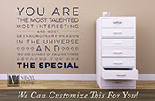 You are the special - quote - A wall decor vinyl lettering decal for your bedroom or playroom 2474