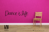 Dance is life wall decor vinyl lettering quote for Dancers of Ballet, Jazz, and others 2487