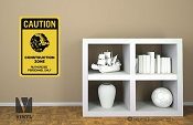 CAUTION Death star construction zone authorized personnel only vinyl decal sign digital print wall or door decor 2503