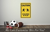 CAUTION Children at play with lightsabers star wars themed vinyl decal sign digital print wall or door decor 2504