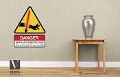 DANGER use lightsaber with care star wars themed vinyl decal sign digital print wall or door decor 2506