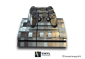 E-SKINS Play Station 4 (ps4) gaming console skin metal brick pattern decals