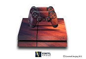 E-SKINS Sony Play Station 4 (ps4) gaming console skin metal streaks pattern red and blue decals