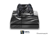 E-SKINS Play Station 4 (ps4) gaming console skin polygon shatter pattern black and white decals