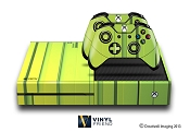 E-SKINS Xbox One skin gaming console 3d strips blocks pattern decals