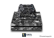 E-SKINS Play Station 4 (ps4) gaming console skin 3d cubes scene black and white decals