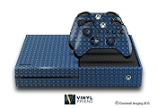 E-SKINS Xbox One gaming console 3d cube pattern blue decals