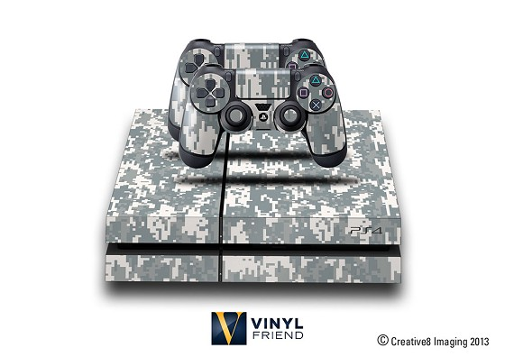 E-SKINS Play Station 4 (ps4) gaming console skin military digital camo pattern decals