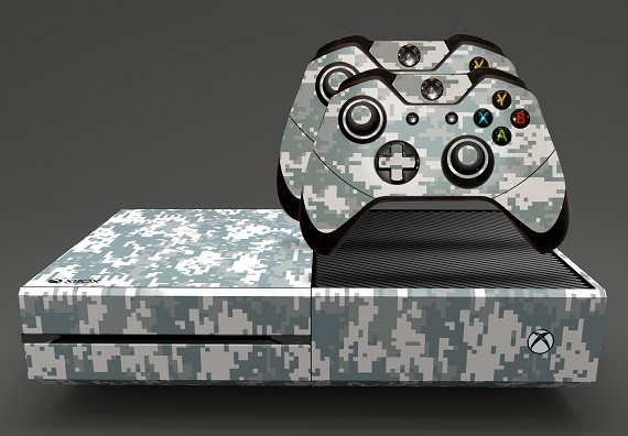 E-SKINS Xbox One gaming console skin US military digital camo modern pattern decals