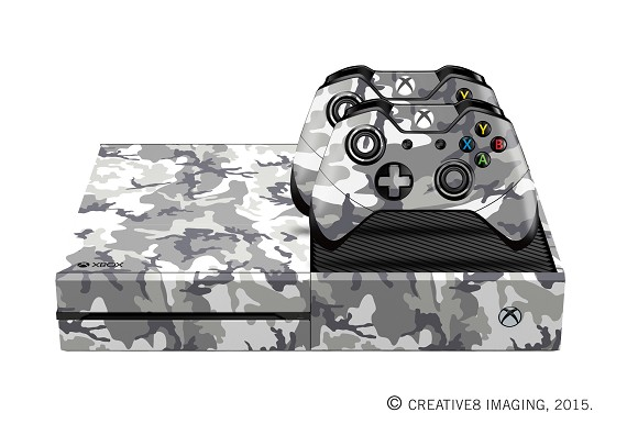 E-SKINS Xbox One gaming console skin Urban Military camo pattern decals