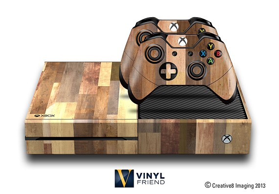 E-SKINS Xbox One gaming console skin wood planks 1 pattern decals