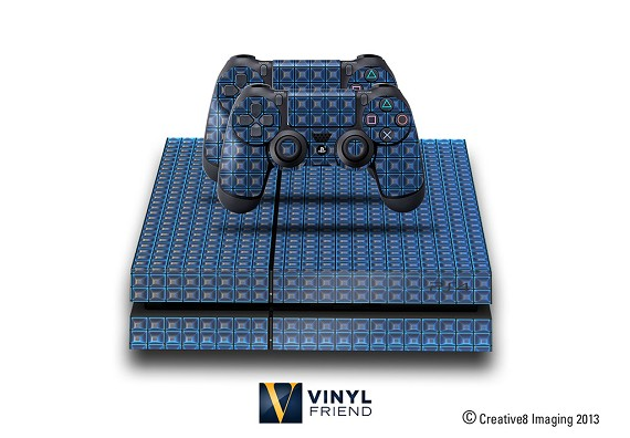 E-SKINS Play Station 4 (ps4) gaming console skin 3d block sci fi pattern decals