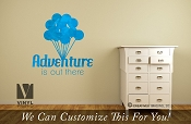 Adventure is out there wall decor vinyl decal print Happy theme 2489