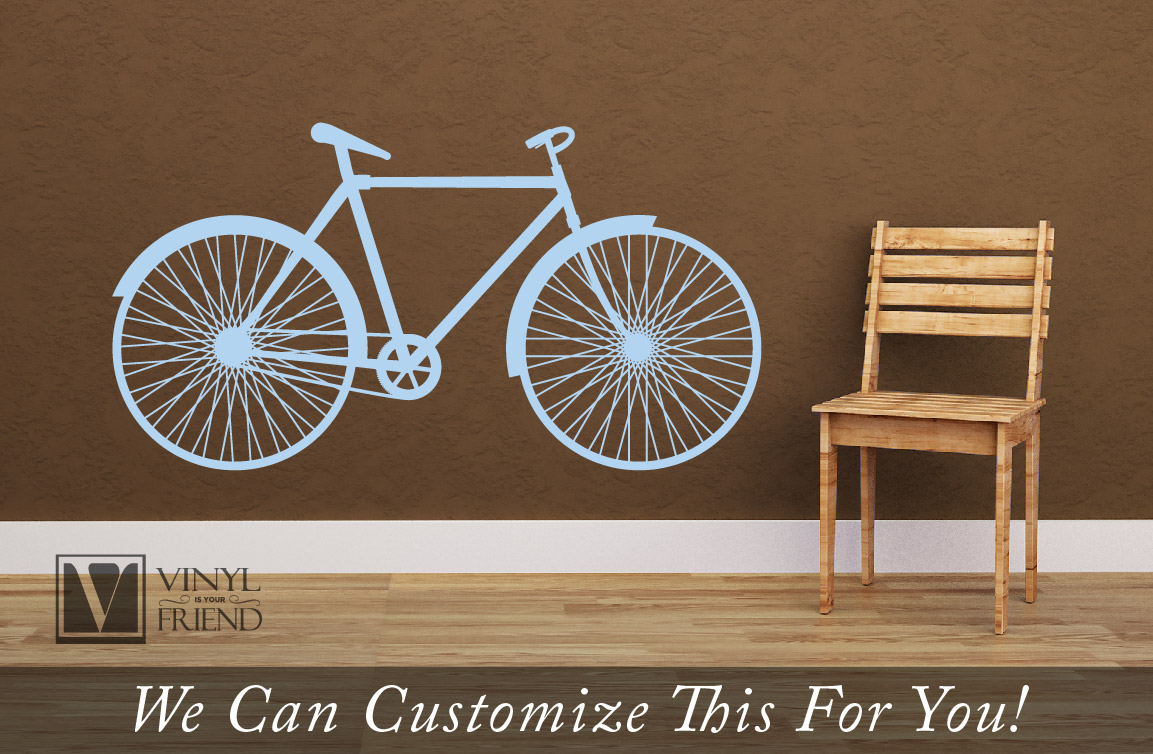 Road Bicycle Retro Vintage Wall Vinyl Decal Graphic A Sports Decor For Bikers And Bike Fans Various Sizes Xs Xl 2458