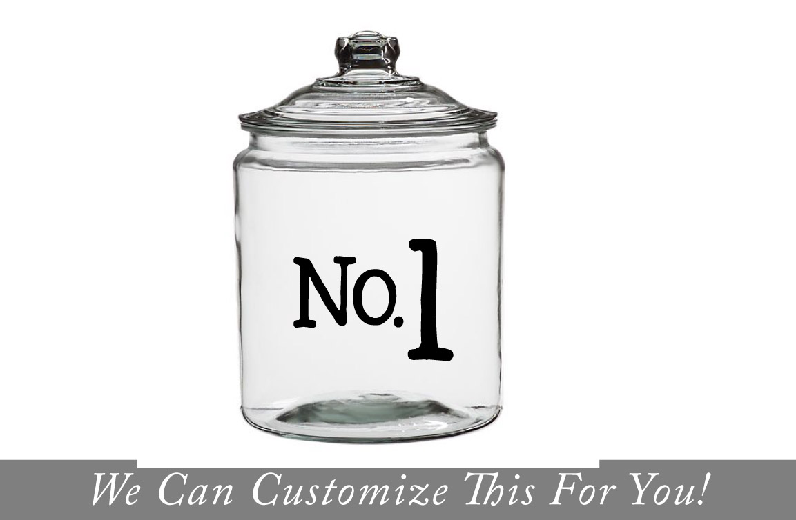 No.1 No. 2 No. 3 numbers custom jar and wall deocr vinyl letterings decal for jars and tiles 2105