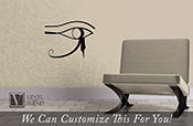 Eye of Horus Right Eye Egyptian Gods Symbol of protection and good health - A wall window or car decor vinyl decal sticker graphic art 2278