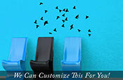 flying Flock of birds in sky small set of 25 wall vinyl decal stickers silhouettes 2285