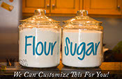 Flour container vinyl decal ONLY label stickers for kitchen small to Xlarge sizes 2307