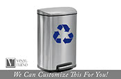 Recycle logo symbol for trash cans containers and walls - vinyl decal sticker graphic art 2349