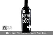 Bottle of Boos label halloween decor for liquor and beer glass bottles - a glass decor vinyl decal lettering with ghosts 2411