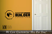 Master Builder custom name wall decor a vinyl decal sticker for that brick builders playroom with block 2447