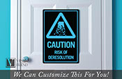 Tron CAUTION risk of deresolution solid acrylic back novelty sign wall decor 2451