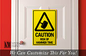 Thor CAUTION risk of hammer time ( Mjölnir ) traffic / road sign an acrylic novelty sign for wall decor and door entries 2454
