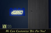 building brick custom name that glows in the dark a wall decor vinyl decal lettering for you kids building block theme room  g2300