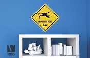 X-WING Crossing NEXT 5AU (atronmical units) star wars themed road sign vinyl decal digital print wall or door decor 2508