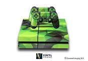 E-SKINS Play Station 4 (ps4) gaming console skin polygons pattern 2 decals