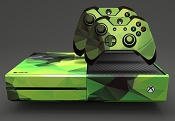 E-SKINS Xbox One gaming console skin Polygon Pattern 2 decals