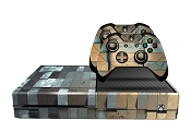 E-SKINS Xbox One gaming console skin metal bricks pattern decals