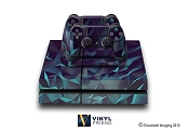 E-SKINS Play Station 4 (ps4) gaming console skin dark polygon pattern 3 decals