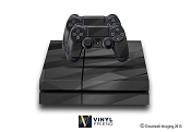 E-SKINS Play Station 4 (ps4) gaming console skin black sleek polygon pattern 4 decals
