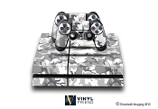 E-SKINS Play Station 4 (ps4) gaming console skin military urban camo pattern black and white decals