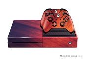 E-SKINS Xbox One gaming console skin red streaks and grunge texture decals