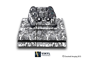 E-SKINS Play Station 4 (ps4) gaming console skin digital military camo modern black and white urban style decals