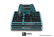 E-SKINS Play Station 4 (ps4) gaming console skin sci fi lines tron style decals