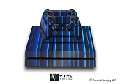 E-SKINS Play Station 4 (ps4) gaming console skin blue glowing strips decals