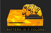 E-SKINS Xbox One gaming console skin Polygon Pattern decals